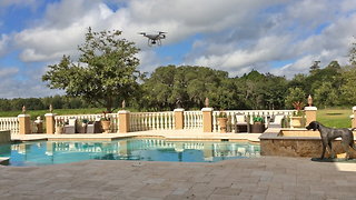Phantom Drone over the pool at Casa Bella Estate - Video