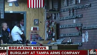 Tampa gun store robbed early Tuesday - Video