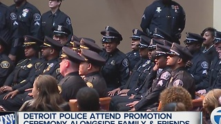 Detroit police attend promotion ceremony with friends & family - Video