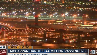 Las Vegas airport traffic up more than 3 percent in November - Video