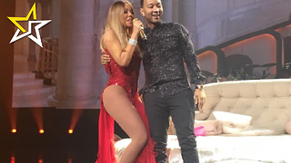 Mariah Carey Has John Legend Onstage For 'Touch My Body' And Chrissy Teigen Loves It - Video
