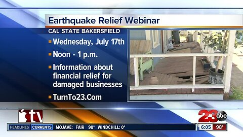 Small Business Administration offering earthquake relief seminar