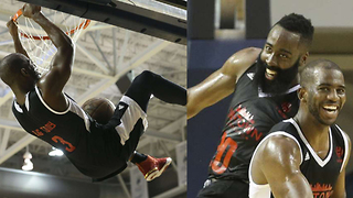 Chris Paul & James Harden Connect on Alley-Oop During Charity Game - Video