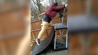 First Time Skateboarder, Unexpected Fail - Video