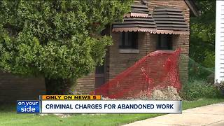 Euclid charges homeowner over housing violations in a botched construction case