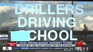 Local driving school suddenly closes