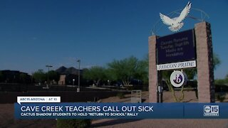 Cactus Shadows High School teachers call out sick