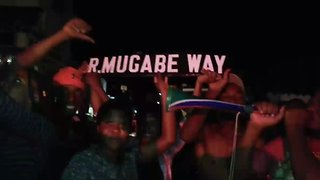 Zimbabweans Celebrate After Mugabe Steps Down - Video