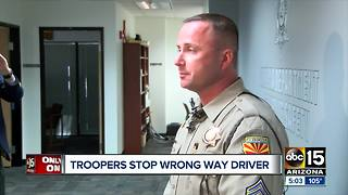DPS troopers stop wrong-way driver spotted on camera