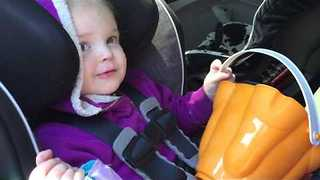 Adorable Toddler Struggles to Repeat Words - Video