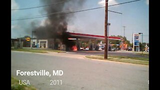 Gas Station Fire!