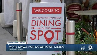 """More space for downtown dining in West Palm Beach with """"Dining on the spot"""""""
