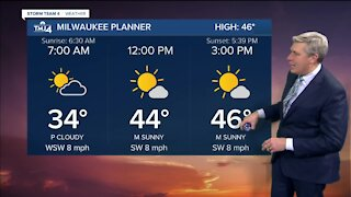 Saturday is sunny with highs in the 40s