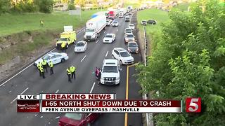Crash Closes I-65 North Near Fern Avenue - Video