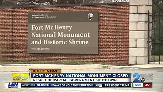 Fort McHenry National Monument closed during shutdown