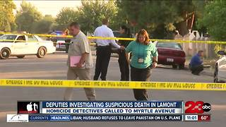 KCSO investigating a suspicious death in Lamont - Video