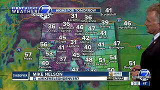 Monday evening forecast