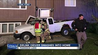 Sheriff: Drunk driver smashes into Kenosha County home - Video