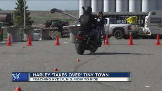 Harley 'takes over' tiny town - Video