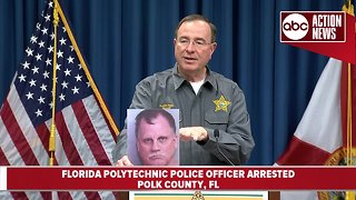 Florida Polytechnic police officer arrested for sexual battery, extortion, stalking of family member | News Conference