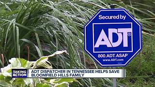 ADT Dispatcher in Tennessee helps save Bloomfield Hills family - Video