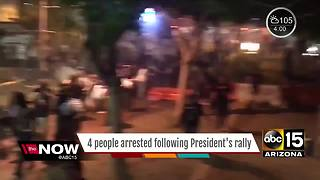 RALLY: 4 people arrested after President Trump's speech - Video