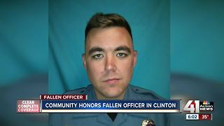 Community honors fallen officer in Clinton