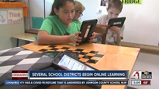 Several school districts begin online learning