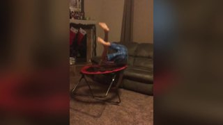 Young Boy's Spectacular Front Flip Fail - Video