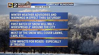 Winter Weather Advisories for Baltimore Area - Video