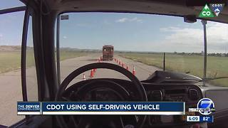 Colorado debuts driverless truck to protect road crews - Video