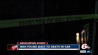 Man found shot dead in vehicle on Indy's northeast side; death investigation underway - Video