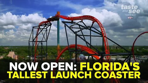 Florida's tallest launch coaster 'Tigris' opens at Busch Gardens | Taste and See Tampa Bay