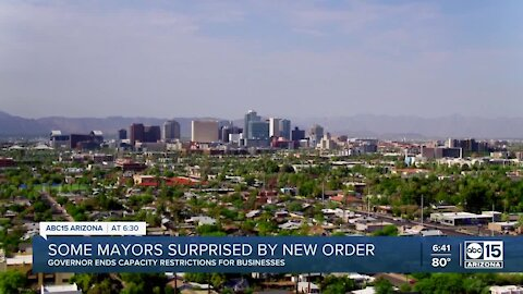 Some mayors say they were surprised by Gov. Ducey's order