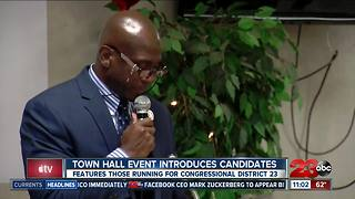 Town Hall ven introduces candidates