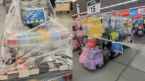 Walmarts In Ontario Are Giant Mazes Of Plastic Wrap & Caution Tape (PHOTOS)