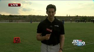 The final first practice for Pima Aztec Football - Video