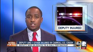 Carroll Co Sheriff's Deputy injured in crash en route to call - Video