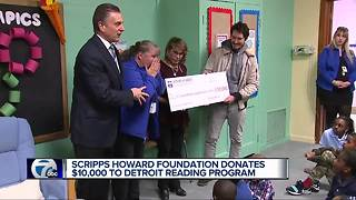 Scripps Howard Foundation donates $10,000 to Detroit reading program - Video