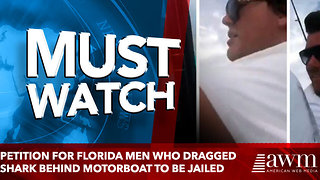 Petition calls for Florida men who dragged shark behind motorboat to be jailed - Video