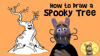 How to Draw a Spooky Tree