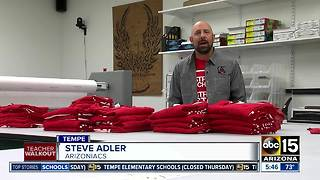 Arizoniacs makes #RedForEd shirts - Video