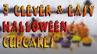 3 Clever & Easy Halloween Cupcakes - Video