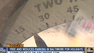 Free, reduced parking in Baltimore for the holidays