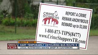 Local businesses seeing drop in customers thanks to Seminole Heights murders - Video