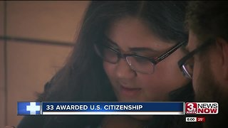 Thirty-three become official US citizens at federal courthouse
