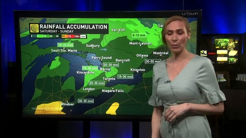Ontario: Rain, strong winds and surging warmth for Sunday
