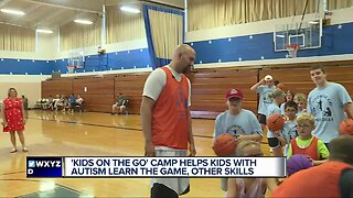 'Kids on the Go' camp helps kids with Autism learn basketball, other skills