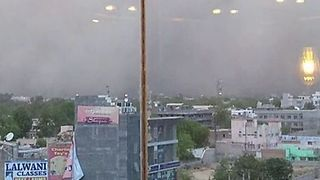 Dust Storm Seen Rolling into Downtown Bikaner, Rajasthan, Before Heading for Jaisalmer - Video