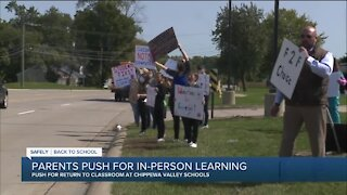 Chippewa Valley School District parents, students rallying for in-person learning